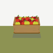 crate of fall apples