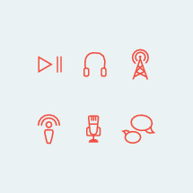 podcast icon set