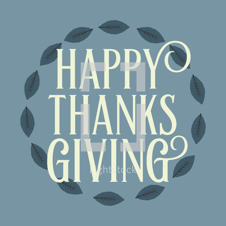 Happy Thanksgiving and wreath