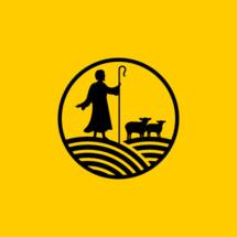 Christian symbols. Shepherd and his lambs.