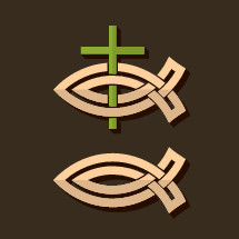 cross and Jesus fish icons