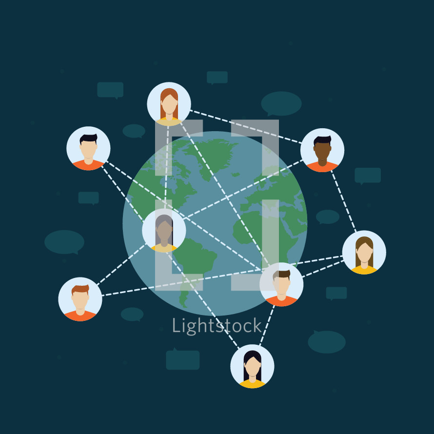 networking concept illustration.