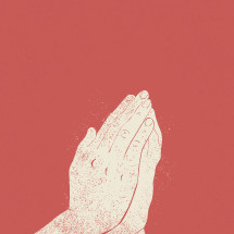 praying hands illustration.
