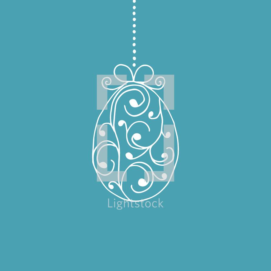 hanging Easter egg ornament