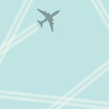 flying airplane illustration.