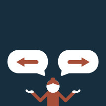 illustration of person questioning direction.