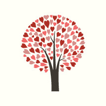heart tree icon.