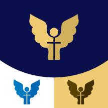 Angel and cross logo