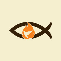 Jesus fish, dove, flame, holy spirt, Jesus, Christian, symbol, icon