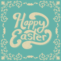 Happy Easter and border