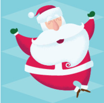 One jolly santa