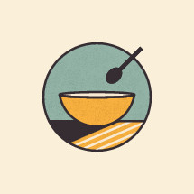 food in a bowl illustration.