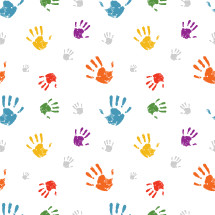 colorful hand print pattern.