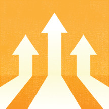 three arrows pointing up