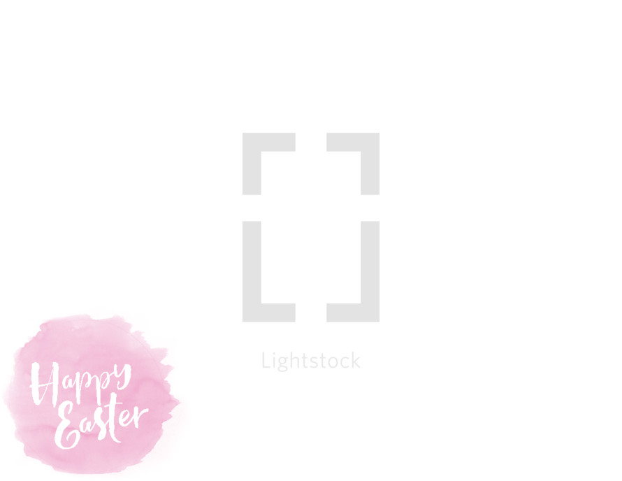 Happy Easter on pink splotch