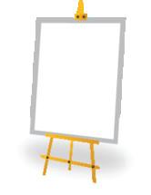 a blank easel