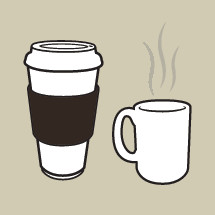 coffee cup and mug