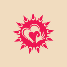 sun, heart, hand, icon