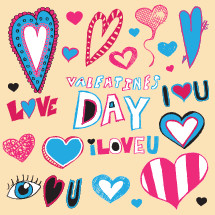 I love you, Valentines day, heart, icon, vector