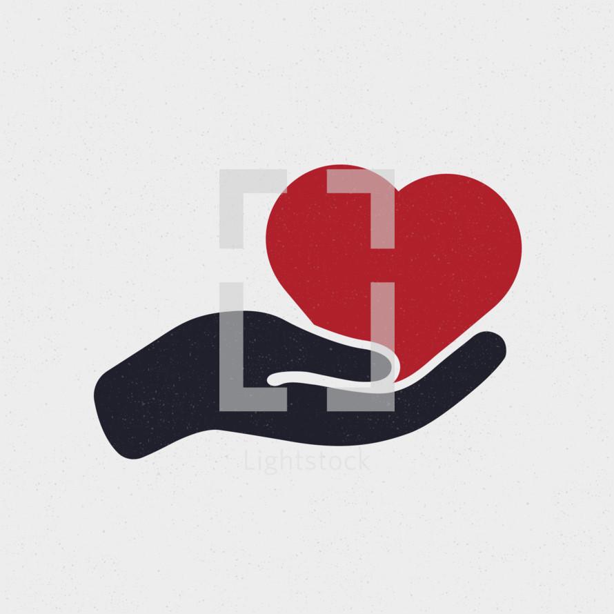 open hand heart