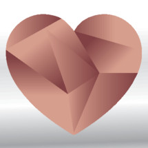 A geometric heart signifying love or valentine's day.