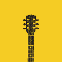 guitar neck illustration.