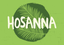 Graphic of hosanna word