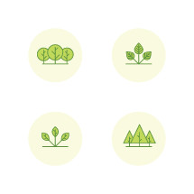 trees and nature icons.