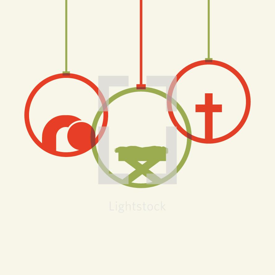 Christmas ornaments icon
