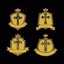 cross on badges