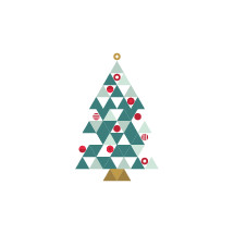 modern geometric Christmas tree icon