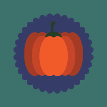 pumpkin badge