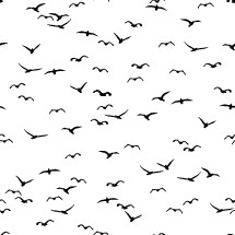 flying birds background pattern