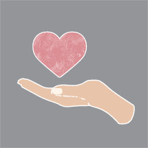 cupped hand holding a heart