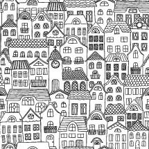 house pattern background
