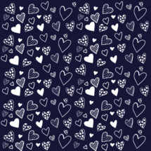 white hearts on a navy background