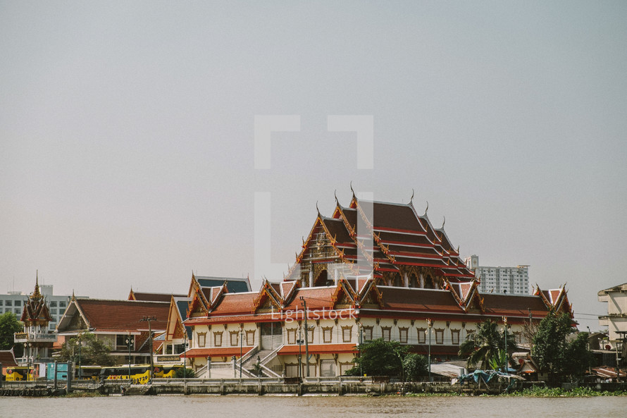 rooftops in Thailand