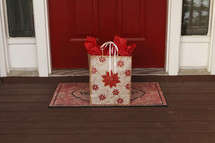 Gift on a doorstep