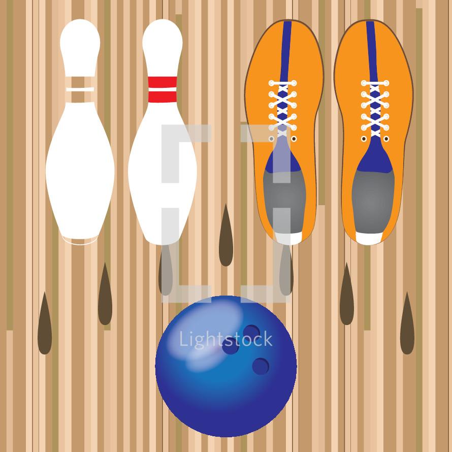 bowling illustration