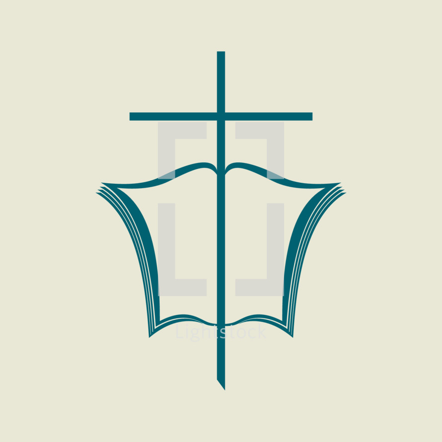 cross and open Bible