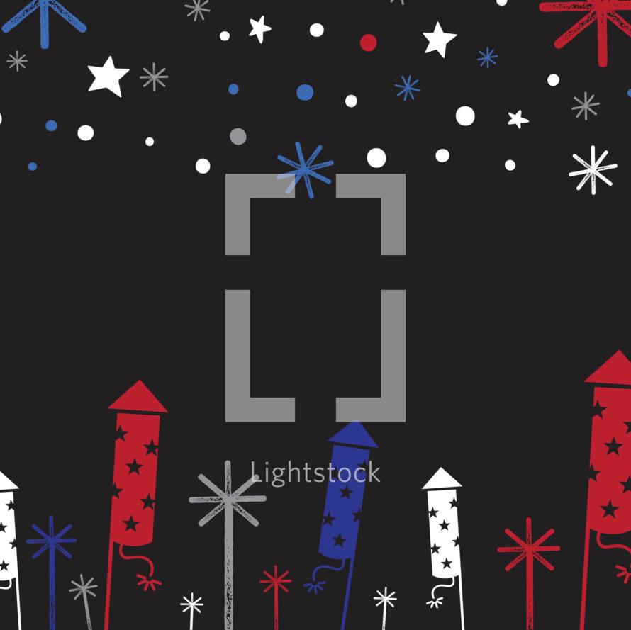 Firework and Sparkler Design Background