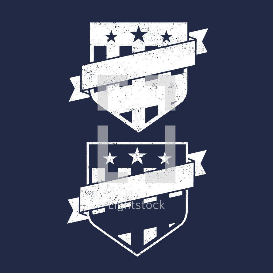 shield and banner