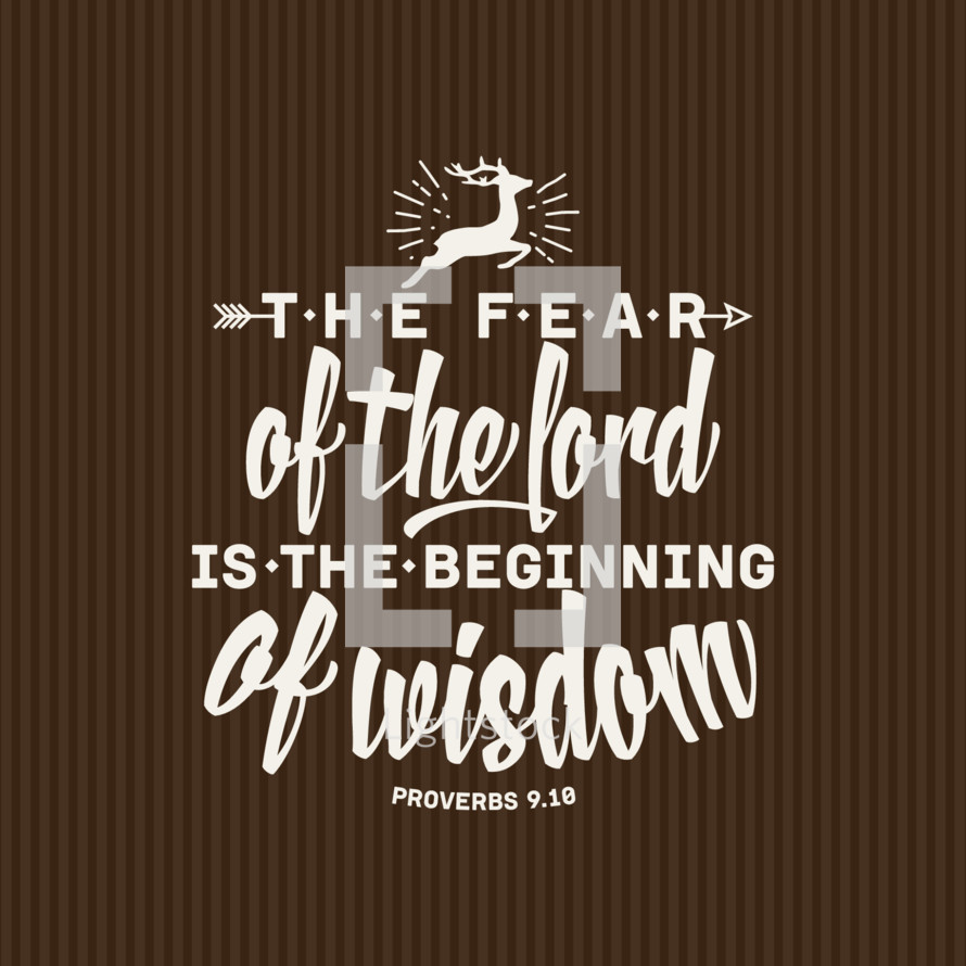 The fear of the Lord is the beginning of wisdom Proverbs 9:10