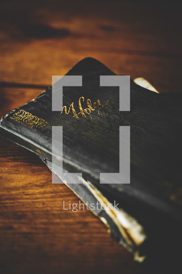 old worn Bible
