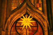 star lamp in a church