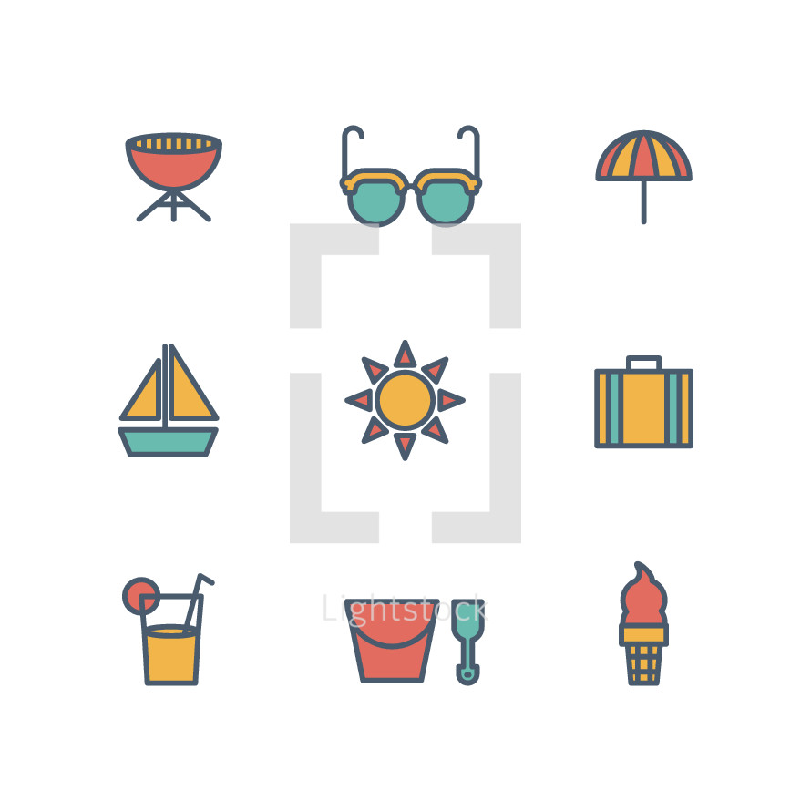 summer icons.