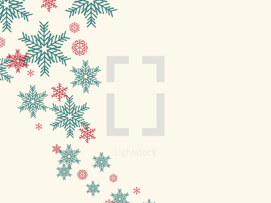 hand drawn Christmas snowflakes background.