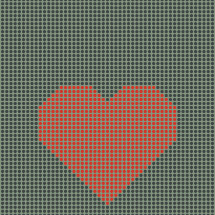 heart in dots