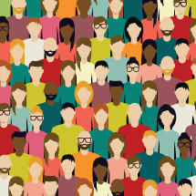 Crowd of people illustration.