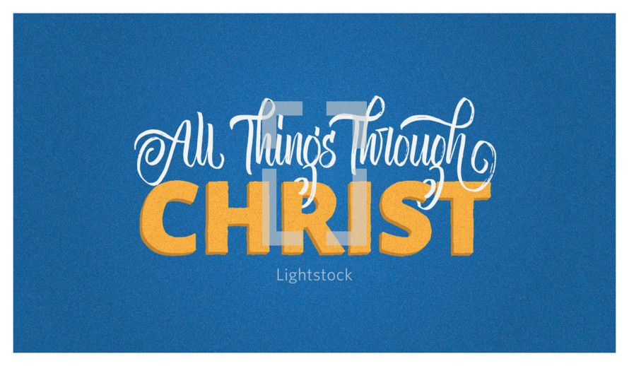 I can do all things through Christ which strengtheneth me. Philippians 4:13  Perfect vector for t-shirts or other products!